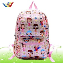 2015 simple outdoor backpack with nice pattern printing for travelling
