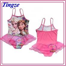 Wholesale little girls hot sexy full cover kids swimwear HZS49