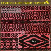 Onway Textile Comfortable blank t-shirts batik rayon printed ladies tops fabric