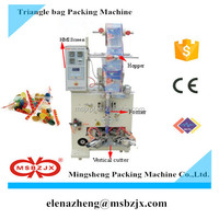 Promotion price JX003 Automatic lemon candy triangle bag packaging machine