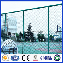 powder coating 9 gauge chain link Fence with round post