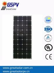 2015 hot sale 120w monocrystalline solar panels, solar PV module for home electricity