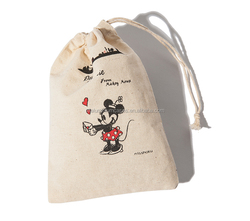cotton gym sack drawstring bag/small fabric drawstring bags