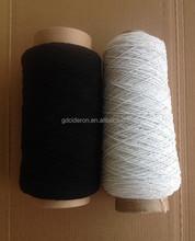 Blanco / negro de látex - envío de goma elástica hilo de rosca