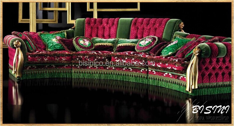 English romantic furniture bright color classic sectional for Englische sofas