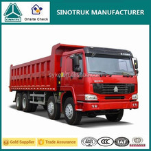 new truck used truck price of 371hp Sinotruck HOWO 8x4 Tipper trucks