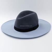 women fashion two tone felt hat wool fedora hat winter felt hat