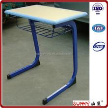 Steel mesh shelf classroom student study desk and chair