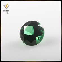 Factory Price of Round Green Synthetic Cubic Zirconia Gemstone