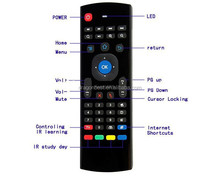 Wholesale!!2.4g 3d MX3 air mouse for android tv mx3 bluetooth fancy air fly mouse with keyboard for smart tv box High quality