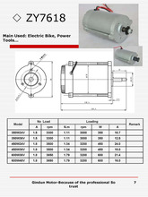 350W36V DC motor with 3300rpm 1.5A Fit for electric bicycle ZY7618