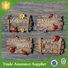Tourist Souvenir Customized Synthetic Wood Resin Fridge Magnet