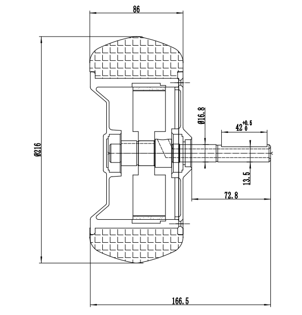 8 5inch brushless 350w 36v hoverboard wheel hub motor