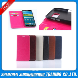 For Samsung Galaxy S6 G9200 Leather Flip cover, Oil PU Leather Wallet Flip Cover Case for Samsung Galaxy S6