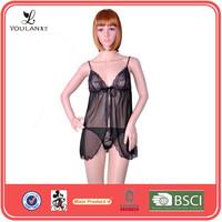 Sexy Fashion Black Transparent Adult Lingerie