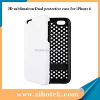 New high quality Double Protective 3D sublimation case for iPhone 6
