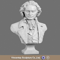 Professional supplier marble beethoven bust statue