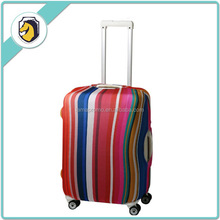 Promotion Brand Spandex Travel Luggage Bag Cover with Rainbow Printing