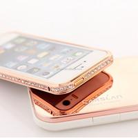 Luxury High-duty metal diamond-encrusted Bumper for iphone 5 5s casing,for iphone 5 case,for iphone5 bumper