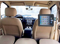 PU Leather Car Velcro Seat Headrest Holder Mounting Strap Case For iPad2/3/4