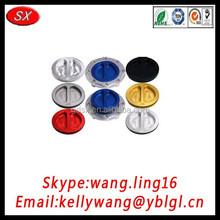 China supplier bulk producing anodized fuel tank cap, aliminum fuel cap, fuel tank lock cap