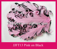 different colour of curly feather pad for hair accessory