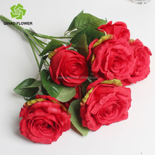 china supplier artifical rose flower bouquet , indoor&outdoor artifical flower arrangement