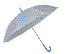 Kid umbrella transparent umbrella blue dots small umbrella