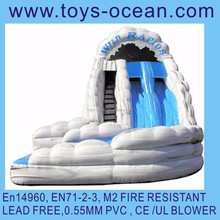 inflatable 18ft wave water slide inflatable slide with water pool inflatable wet slide