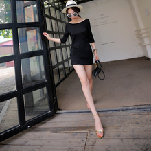 Sexy Womens Short Sleeve Deep V Backless Bodycon Mini Dress OEM Type Manufacturer Factory Guangzhou