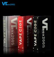 China manufacturer mini ecig mod vv/vw dna box 200 mod vt200s vapecige battery built-in vape mod