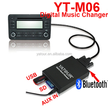 Car mp3 adapter aux radio changer provide mp3 usb sd card function
