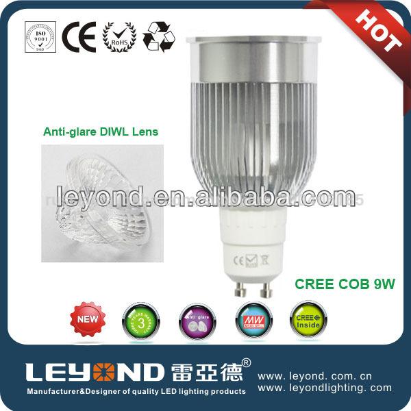 высокого качества 9w gu10 светодиодный прожектор 2700k се и стабильностью