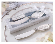 wedding favor party gifts-- Stainless Steel Spreader wedding gift and giveaways--Butter knife arrival Leaf Spreader