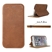 Arab Market Genuine Oil Wax Leather Black Business men mobile phone leather case for iPhone 6