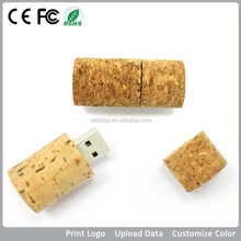 Red wine cork shape wooden usb 2gb 4gb 8gb with CE/FCC/ROHS