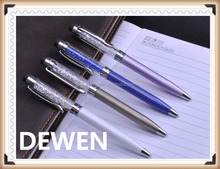 long metal crystal twist pen,top selling metal ball pen with factory price
