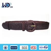 2015 hign quality bran paper braided leather belt