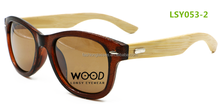 New design pc frame bamboo temples polarized