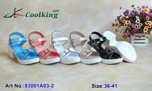 Coolking good quality kitten heels women's sandals summer