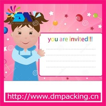 girl party invitation cards birthday celebration cards