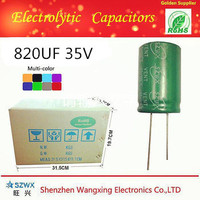 SHENZHEN High frequency and Low Impedance Aluminum electrolytic capacitor 820UF 35V