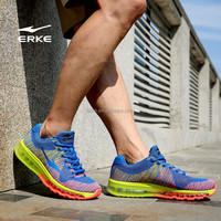 ERKE 2015 NEW mens fly knit max running shoes full-length air cushion sneaker for man couple style inventory avaliable
