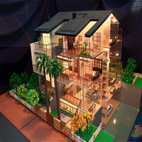 Professional Architectural Maquttes,Model house Plan ,3D Miniture Scale model with Led lights