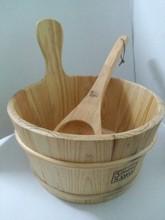 Good quality elegant sauna accessories for sauna spa bath use wooden sauna spa bucket