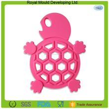 Animal disegno tartaruga silicone a forma di tavolo da pranzo mat, silicone piatto caldo tappeto