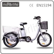 MOTORLIFE/OEM brand EN15194 36v 250w electric trike motorcycle