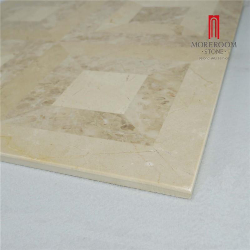 Moreroom Stone Yunfu Factory Iran Beige Marble Stone Tiles Marble Wall Design Marble Floor Design Pictures Floor Medallion Water Jet Marble Tiles 06.jpg