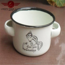 Enamel Bowl With 2 Handle On Each Sides You Can Put It In Kitchen Room