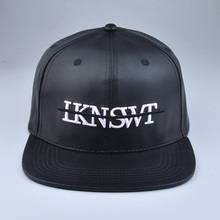 black leather snapback blank hats custom